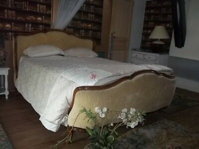 Vintage French Kingsize Full Louis Xv Revival Corbielle Bed/butterfly Style