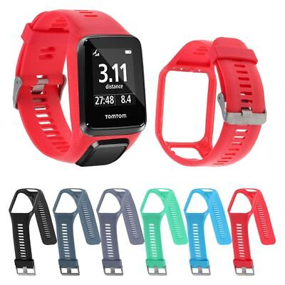 Silicone Bracelet Bande Sangle Pour TomTom Runner 2/3 Spark 3 Golfer 2 GPS Watch