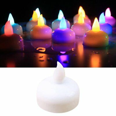 12Pcs Colour Changing Battery LED Tea Light Candles Floating Waterproof Tealight