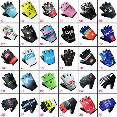 Sports MTB Road Bike Cycling Glove Gel Half Finger Gloves Shockproof Fingerless