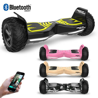 """Mega Motion Patinete Eléctrico Scooter 8.5"""" Bluetooth off-road APP Hummer SUV"""