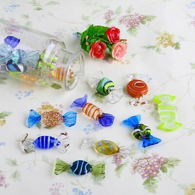 18pcs Vintage Murano Glass Sweets Wedding Party Candy Ornaments Decorations