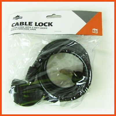 12 x CABLE BIKE LOCK 12x1200mm w/ 2 Keys Bicycle Riding Security Travel Cycling