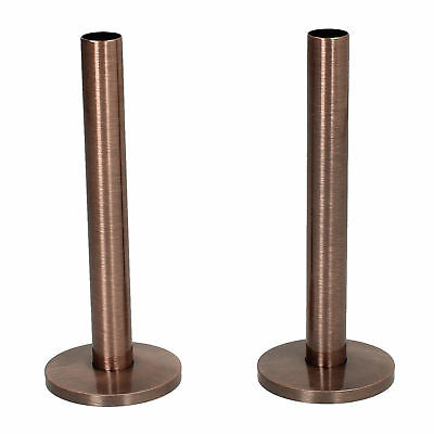 Antique Copper 15mm x 130mm Tails and Decoration Floor Cover Plates (Pair)