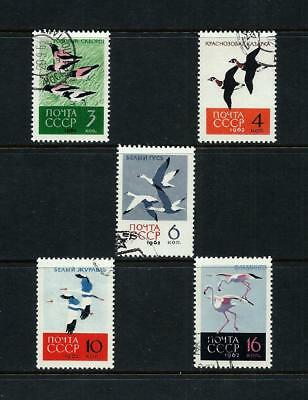 RUSSIA _ 1962 'BIRDS' SET of 5 _ used ___(543)