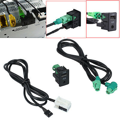 Aux Switch + Draht Kabel Adapter USB für BMW 5er E90 E91 E92 X5 X6 AC516 3,5 mm