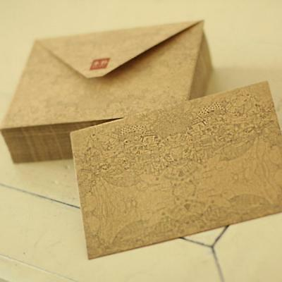 10 X Vintage Retro Kraft Paper Envelope for BusinessCard  Style High,Quality^