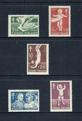 FINLAND _ 1947 'TUBERCULOSIS FUND' SET of 5 _ mlh ____(543)