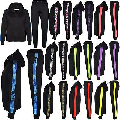 Kids Girls Boys Jogging Suit Fleece Hooded Hoodie Bottom Tracksuit Jogger 5-13Yr