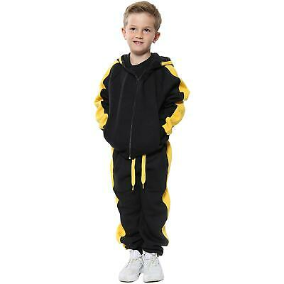 Kids Boys Girls Tracksuit Fleece Hooded Jogging Suit Hoodie Bottom Joggers 5-13Y