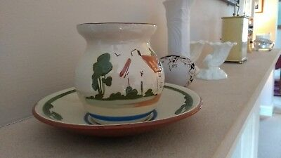 Dartmouth Pottery Bowl And Saucer