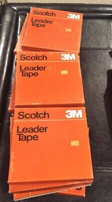 Lot Of 14 Scotch 3M 20-1/4-1000 Leader Tape on Reel NEW!!