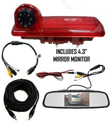 Nissan NV300 Van Reverse Reversing Camera Brake Light & Monitor (2017 - Present)