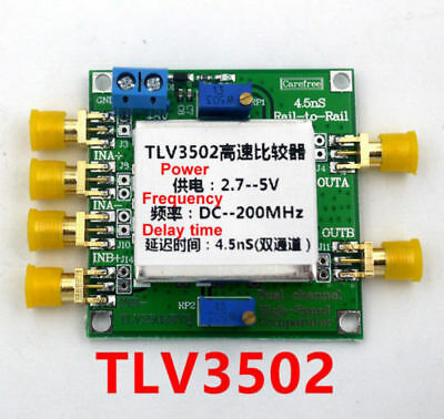 TLV3502 Dual channel High - Speed Comparator 4.5-ns, Rail-to-Rail Comparator