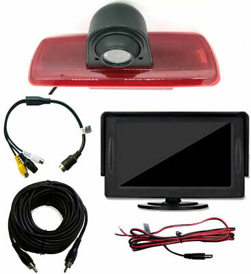 Nissan NV300 Brake Light Reverse Reversing Camera Kit & Monitor (2017 -Present)