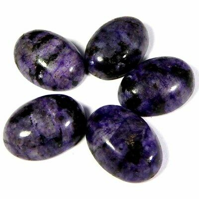 60.99Cts++100% NATURAL SUPER RUSSIAN CHAROITE OVAL LOT CABOCHON GEMSTONE