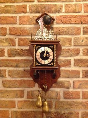 Vintage Dutch Zandam (Zaanse) wall clock from 1958, Warmink Clock
