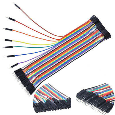 40x Cable Dupont Jumpercables 20cm 2.54MM Macho a Hembra 1P-1P Arduino HL509-508