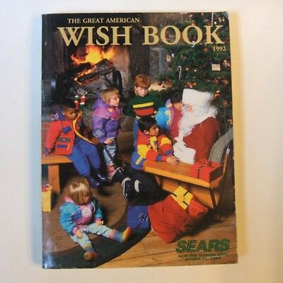 1992 Sears Christmas Wish Book Vintage Video Game Nascar Barbie Toy Tech PC