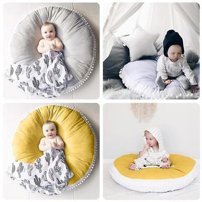 Round Baby Newborn Soft Cotton Game Activity Play Mat Crawling Blanket Floor Rug