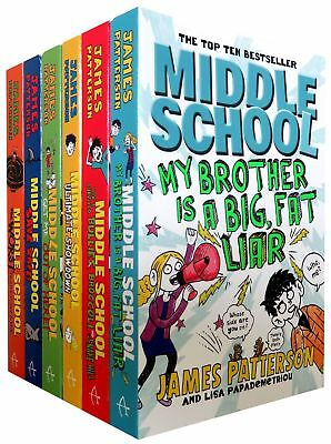 Middle School 6 Books Set Collection Pack - James Patterson  | James Patterson