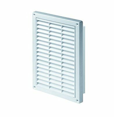 White Air Vent Grill 165mm x 235mm with Fly Screen, Anti-Insect Mesh Mesh