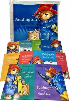 Paddington Bear x 10 Books Collection Pack Set in Carrier Bag by  | Micheal Bond