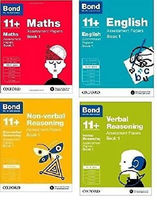 Bond 11+ English 4 Books Set Ages 10-11+ Inc Maths,English,Verbal and Non | Bond