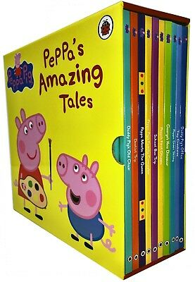 Peppa Pig Amazing Tales 10 Books Box Set Collection Children Gift Pack | Ladybir