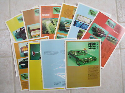 Rohm and Hass Auto Show Media Kit featuring the Explorer V Idea / Concept Vehicl