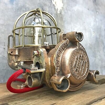 Vintage Industrial Wall Light -12kg Cast Copper Explosion Proof Ceiling Lamp