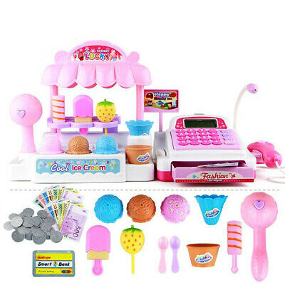 Ice Cream Shop Set w/Register Pretend Play Toy Kids/Toddler Role Play Game