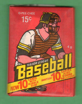 1978 O-Pee-Chee Baseball Card Unopened Wax Pack