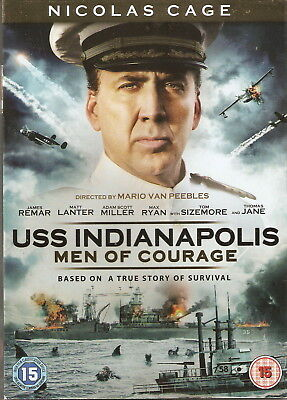 USS INDIANAPOLIS: MEN OF COURAGE - Based on a True Story. Nicolas Cage (DVD '16)