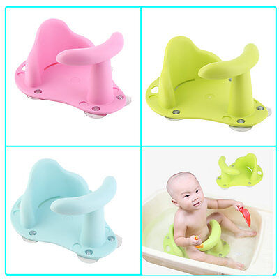 Baby Bath Tub Ring Seat Infant Child Toddler Kids Anti Slip Safety Chair LM