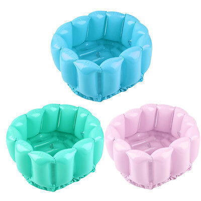 Foot Feet Soak Bath Inflatable Basin Wash Spa Home Use Pedicure Care Relax LM