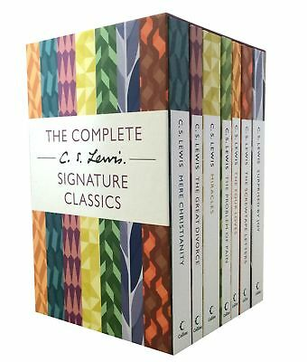 The Complete C. S. Lewis Signature Classics 7 Books Boxed Set Collection PB NEW