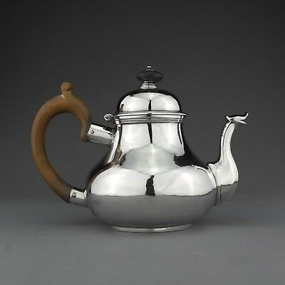 Rare Antique George II Solid Sterling Silver Pear Shaped Teapot, London 1759.