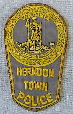 Herndon Town Police Patch (Virginia) (ca. 1980  Uniform Takeoff-Former Design)