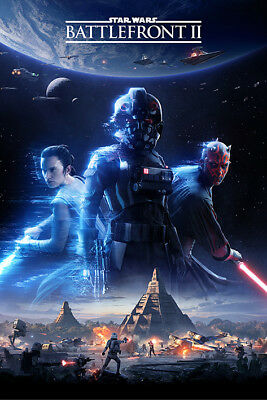 Star Wars Battlefront 2 Game Cover Maxi Poster Print 61x91.5cm | 24x36 inches