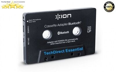 Ion Cassette Adaptor Bluetooth Wireless Music Receiver for Cassette Decks/in-car