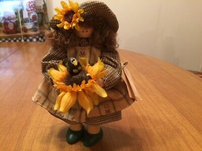 Longaberger Lizzie High The Little Ones Wooden Doll - Janey Sue