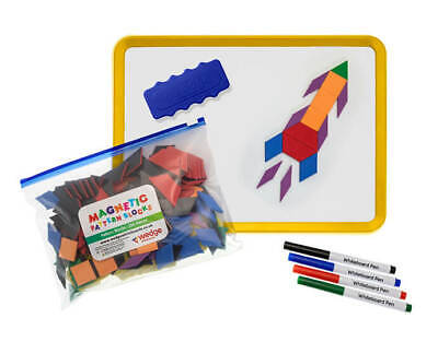 Wedge Jotter Set with 250 Pattern Blocks - Dry Wipe Kids Magnetic Whiteboard