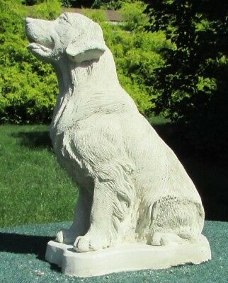 Concrete Golden Retriever Statue, Memorial Or Grave Marker