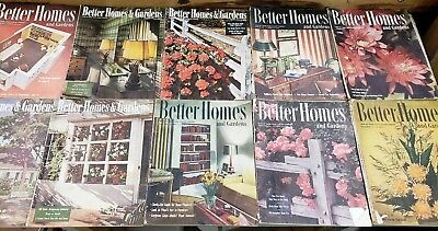 Lot of 21 Vintage Better Homes and Gardens from 1944-48, and 1952