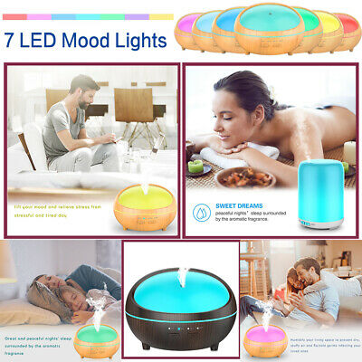 Aromatherapy Essential Oil Diffuser 300ml 500ml Ultrasonic Cool Mist Humidifier