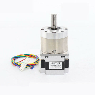 57mm  Planetary Gear Motor Nema 23 Stepper Motor 12mm Shaft Ratio 1:3.6-1:807