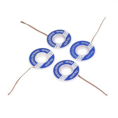 2Pcs Soldering Iron Aid Remover Wick Wire Neutro-packing Wrapping Tapes UK STOCK