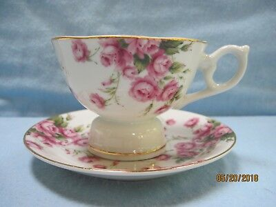 Lefton China Musical Teacup with Saucer Excellent Condition