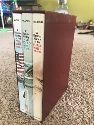 America At War: A Pictorial History Book Set Of 3~ WW1~WWII~Civil War
